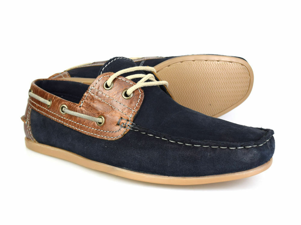 Red Tape Stratton Mens Leather Boat//Deck Shoes