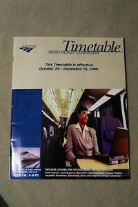 Amtrak-Northeast-Corridor-Timetable-10-29-to-12-10-2000