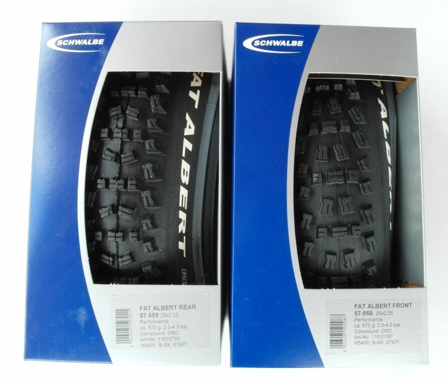 Schwalbe Fat Albert Front and Rear Performance Folding 26 X2.25 Tires - pair