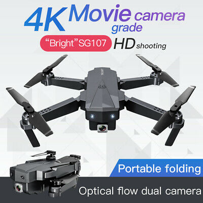SG107 Foldable 4K WIFI FPV HD Dual Camera Flying Quadcopter Selfie Mini Drone UK