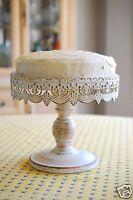 Vintage Metal 10 Cake Stand White Elegant Wedding Round Display Birthday Lace