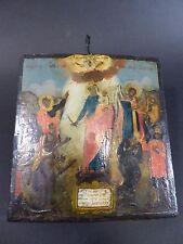 kleine  Reiseikone Ikone Russland Russia handgemalt antik Heilige