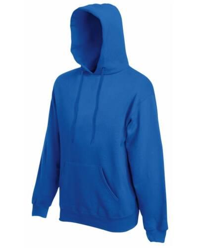 Royal Blue Adult Fruit of the Loom Plain Hooded Sweatshirt Pullover Hoodie