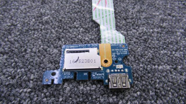"""HP 15-AC 15.6/"""" OEM USB Port Card Reader Board w// Cable LS-C705P 455MW032L01"""