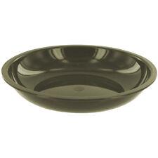 Highlander 20cm Deep Camping Plate Dishwasher Safe Polypropylene Dish Bowl Olive