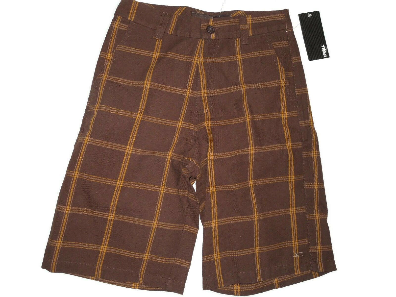 O'NEILL mens  brown plaid Astra Shorts size 28