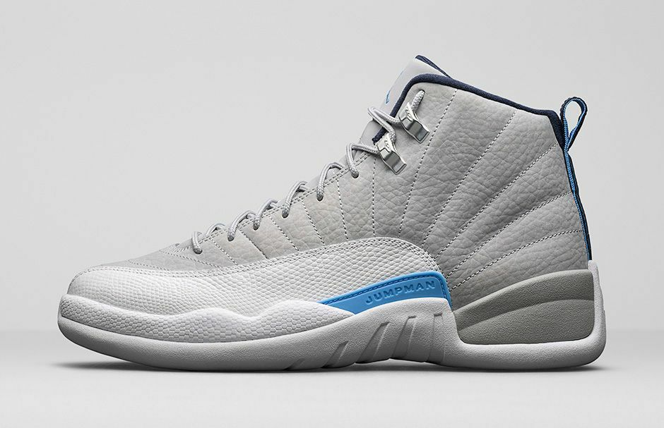 2018 Nike Air Jordan 12 XII Retro Grey University Blue UNC Comfortable The latest discount shoes for men and women