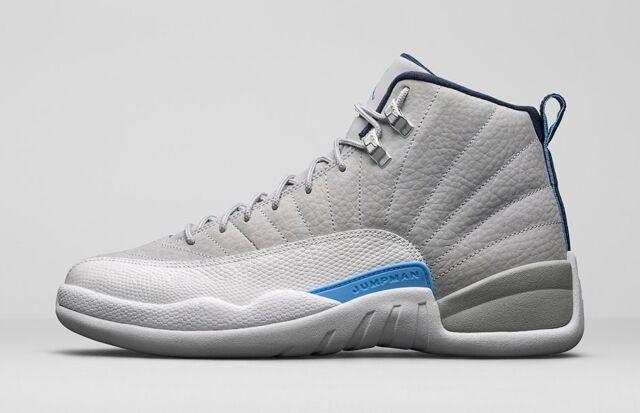 d0468c66450 2016 Nike Air Jordan 12 XII Retro Grey University Blue 130690-007 Size 10