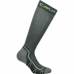 Cmp Chaussettes De Sport Trekking Sock Poly High Vert Foncé Respirant Unicolore-afficher Le Titre D'origine