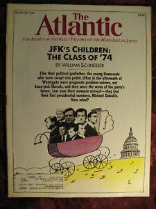 ATLANTIC Magazine March 1989 William Schneider Steven Zak Patricia Henley