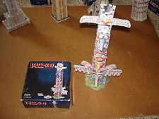 Puzz 3D Wrebbit Totem Pole 47 Pieces 1996 Mini Complete Puzzle