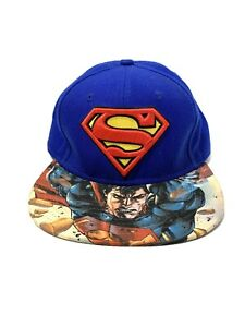 Superman Man of Steel Blue Snapback Hat DC Comics