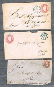 Hannover 3x lettere (parti) usato, in con 23 contribuenti serie 8