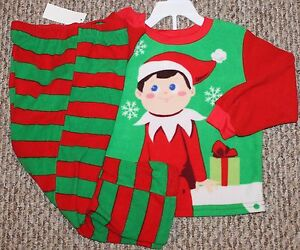 Girls Elf On The Shelf 2 pc Pajama Set (Fleece  PJ  Sleepwear) - Size 4T 67da67eb6