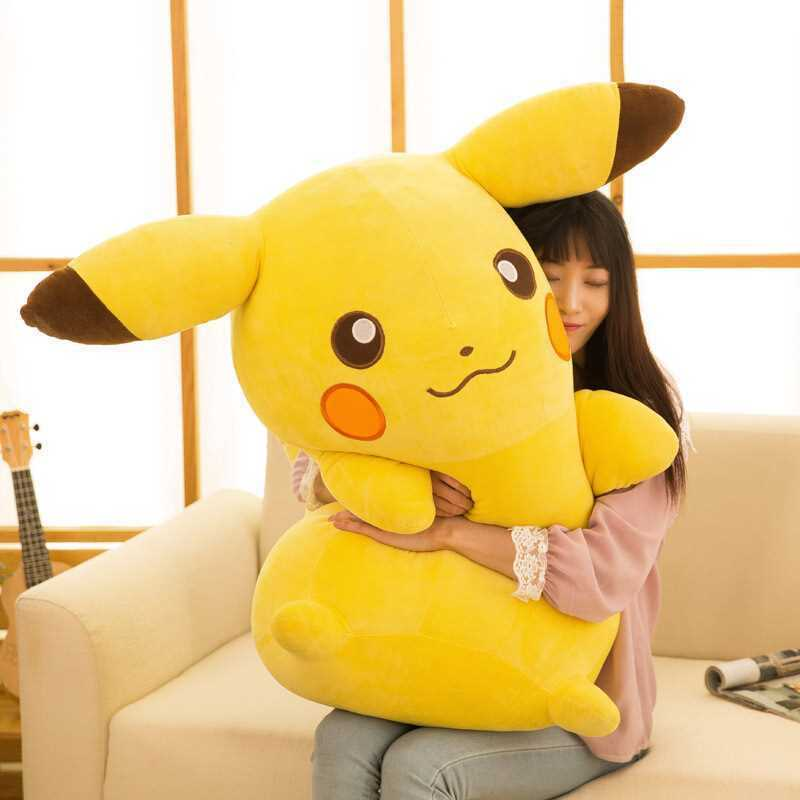 2019 Hot Large Stuffed Anime   Go Pikachu Soft Plush Toys Doll kids gift 85cm
