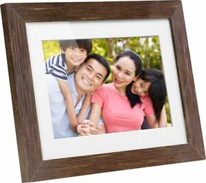 Aluratek 8 Lcd Digital Photo Frame Light Distressed Wood