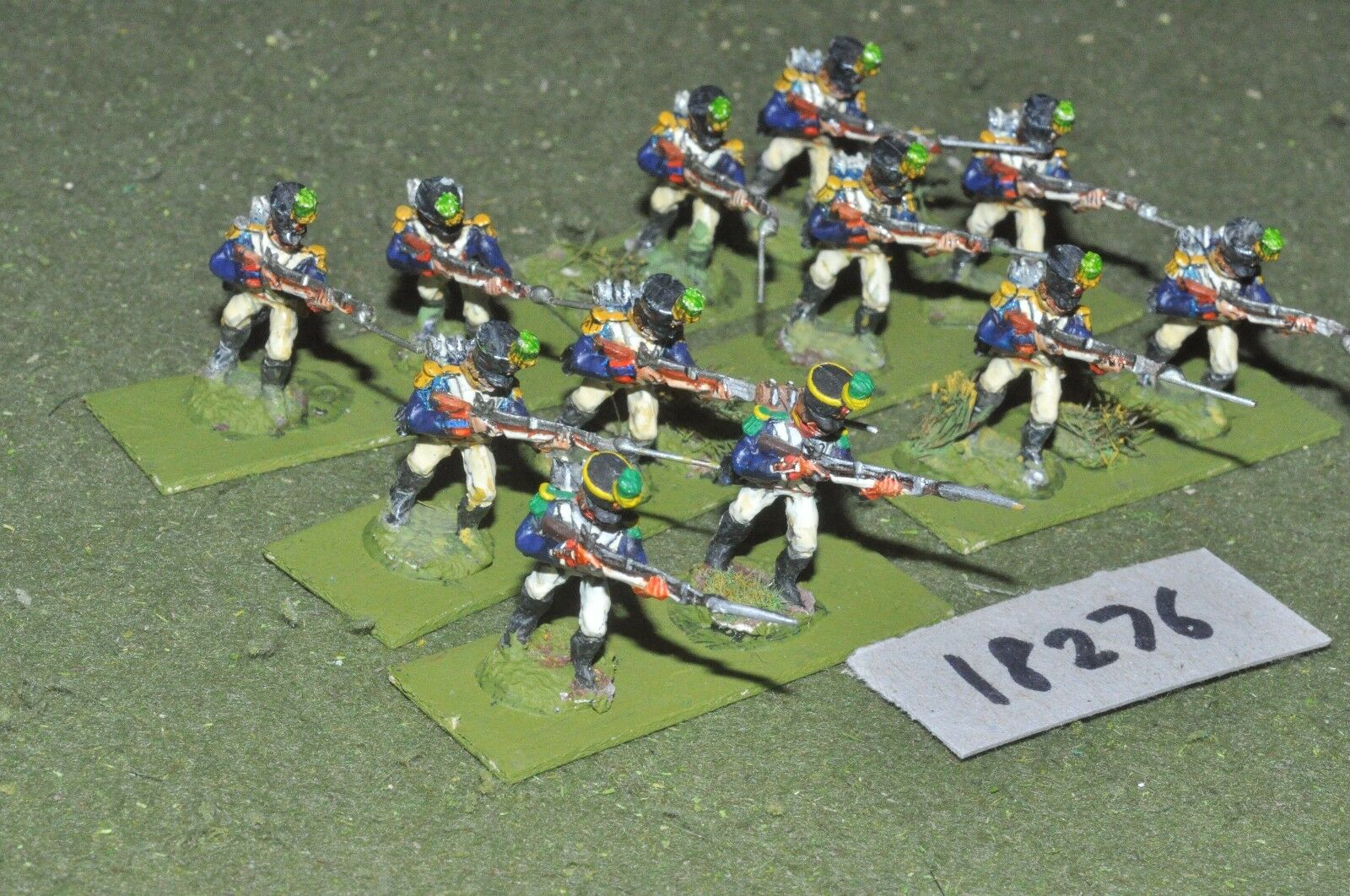 25mm napoleonic   french - infantry 12 figs - inf (18276)