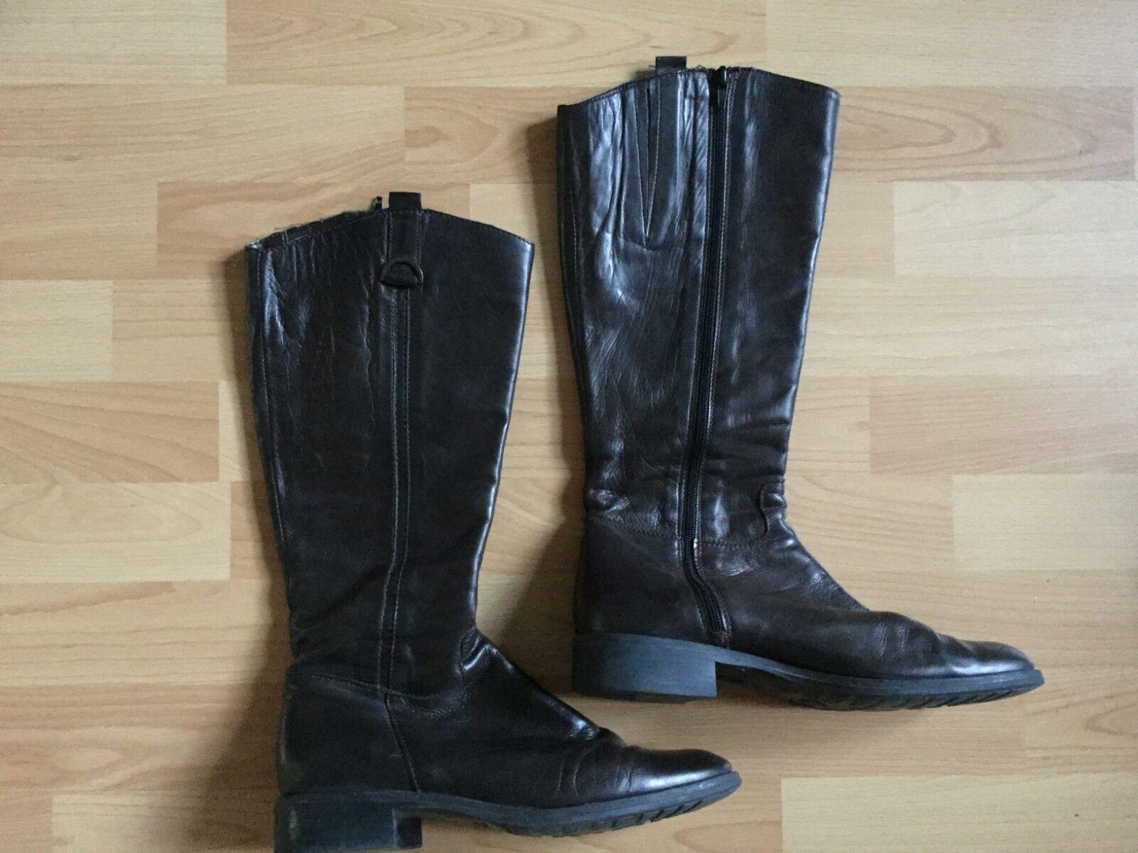 Lavoraziome Argentina Damenstiefel Damenstiefel Damenstiefel Stiefel Gr. 40 braun Leder Schuhe Damenschu10 3cfaf4