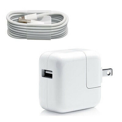 12W USB 2.4 Amp Wall Charger + 8 Pin Cable for Apple iPad Mini Air iPhone 5 / 5s