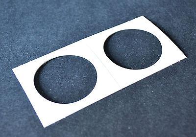 100 2x2 cardboard mylar coin holder flip for SILVER DOLLARS (MORGAN/PEACE/IKE)