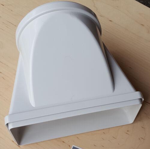 Canale di scarico cappa 220x90mm CASSETTA MURO transizione canale a circa ø150mm küa