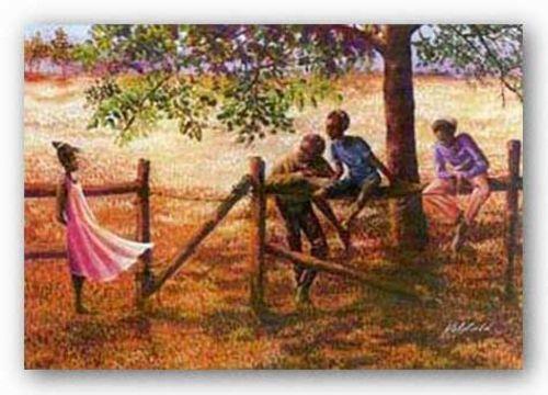 AFRICAN AMERICAN ART PRINT Memories of the Meadow John Holyfield