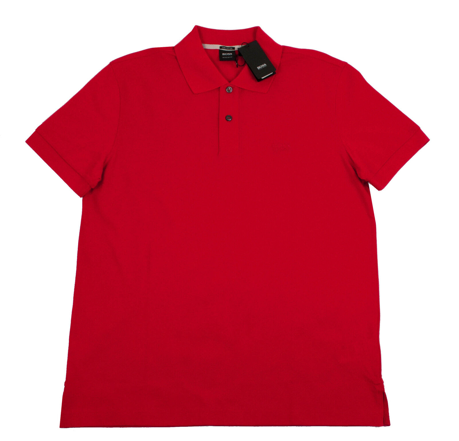 M, XL HUGO BOSS FIRENZE LOGO REGULAR FIT Pour des hommes rouge COTTON engrener manche courte SHIRT