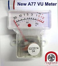 Revox A77 VU meters - newly manufactured and improved. A77 mk3 mk4.