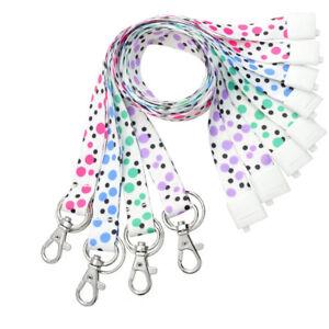 4-pc-Cute-Polka-Dot-Fashion-Lanyards-for-ID-Badges-amp-Keys-Soft-with-Breakaway