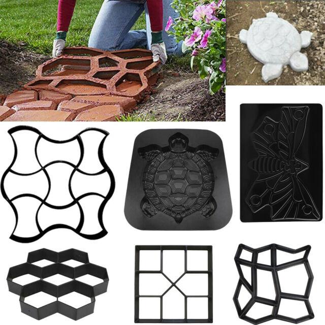 Reuse Garden Path Maker Mold DIY Paving Cement Brick Stone Road Concrete Mould