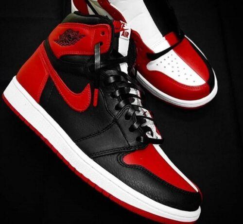Leather Shoe Laces For Air Jordan AJ 1 Chicago Bred Top3 Royal Blue Black Toe OG