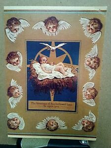 REPRODUCTION-OF-AN-ORIGINAL-ANTIQUE-CHRISTMAS-POST-CARD-1874-TO-1895-angels