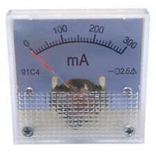 Us Stock Dc 0 300ma Analog Amp Current Pointer Needle Panel Meter Ammeter 91c4