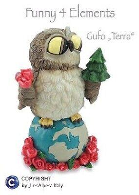 GUFI LES-ALPES 4 ELEMENTI GUFO TERRA IN RESINA 014 92356 - Gufetto