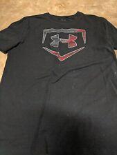 Boy's Under Armour HeatGear White Salisbury Lacrosse Loose Fit Short Sleeve YXL