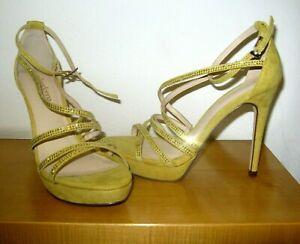 Zapatos Amarillo Sandalias Suede Tiras Hermosos Con Primadonna IyYfv7b6mg