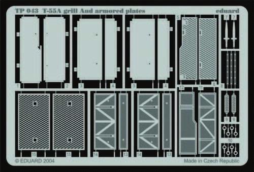 Eduard Accessories Tp043 - 1:35 T-55A Grill And Armored Plates - Ätzsatz - Neu