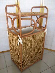 Arredo Bagno In Vimini.Cesto Portabiancheria Vimini Con Fodera Mobile In Rattan Arredo Bagno Ebay