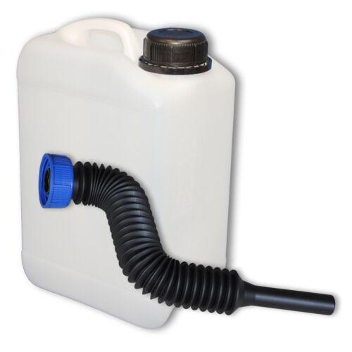 3 Liter Wasserkanister Kanister mit Deckel und Ausgießer flexibel lang DIN 45