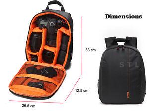 DSLR Compact Backpack Camera Bag For Canon EOS 800D 80D 5DS 5DSR 5D MK IV