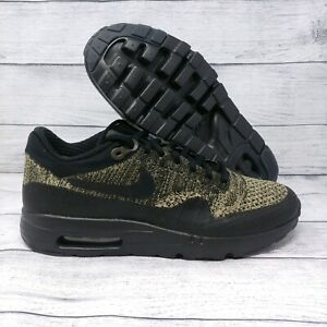 Details about Nike Air Max 1 Ultra Flyknit Mens Running Shoes Sz 7.5 Olive Black (856958 203)