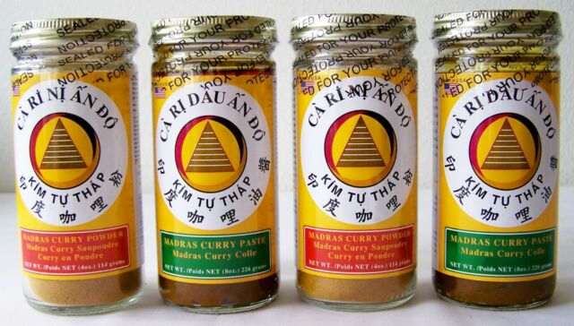MADRAS CURRY 2 Paste + 2 Powder COMBO ~ Pack of 4 Jars NO Artificial Ingredients