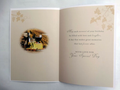 65th anniversaire d/'une spéciale papa vignoble vin fromage design happy birthday card