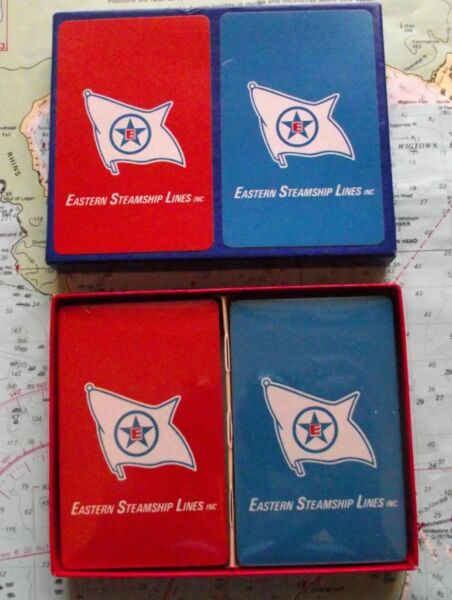 1960 Eastern Steamship Line Playing Cards Mint Twin Box Tener Una Larga PosicióN HistóRica