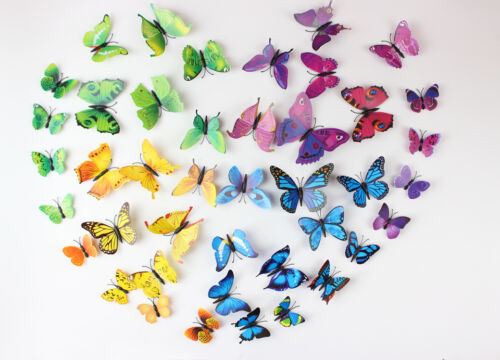 12pc PVC 3D Butterfly Wall Stickers