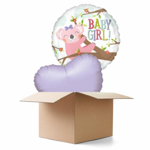 NEU Ballongrüsse Koala Baby Girl 2 Ballons
