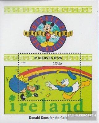 Postfrisch 1999 Walt-disney-figur Micky Maus NüTzlich FüR äTherisches Medulla kompl.ausg. LiebenswüRdig Malediven Block425