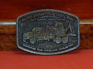 Pre-Owned-Alme-Construction-Inc-cut-Bank-Montana-Belt-Buckle