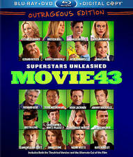 Movie 43 (Blu-ray/DVD, 2013, 2-Disc Set, Includes Digital Copy) - NEW!!