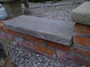 Superieur Image Is Loading STONE GARDEN FLAT TOP DOUBLE BRICK COPING PIER
